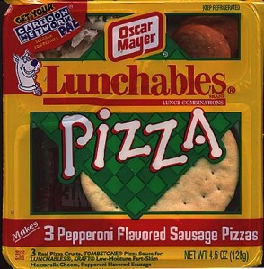 Old lunchables pizza