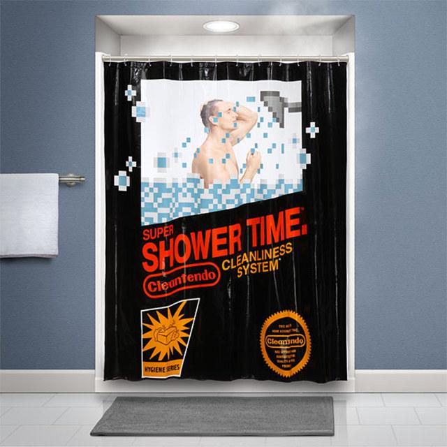 nintendo-shower-curtain